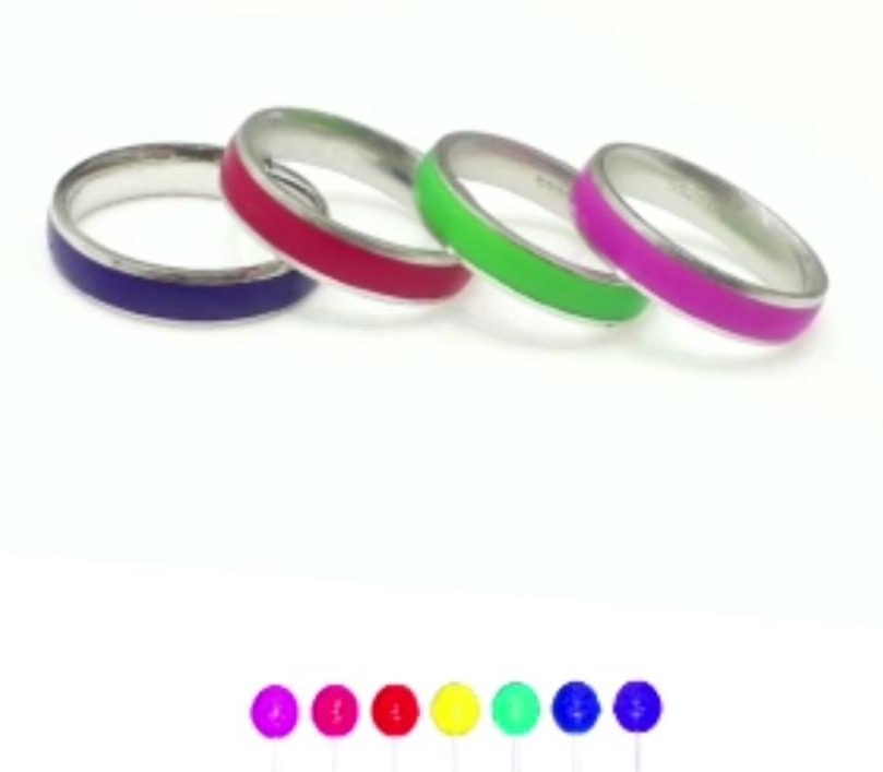 Silver Ring – Colour changing ring-heat