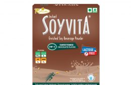 SOYVITA – SWEETENED CHOCOLATE | LACTOSE FREE | ENRICHED SOY BEVERAGE POWDER | Serves-15 (500 Gms)