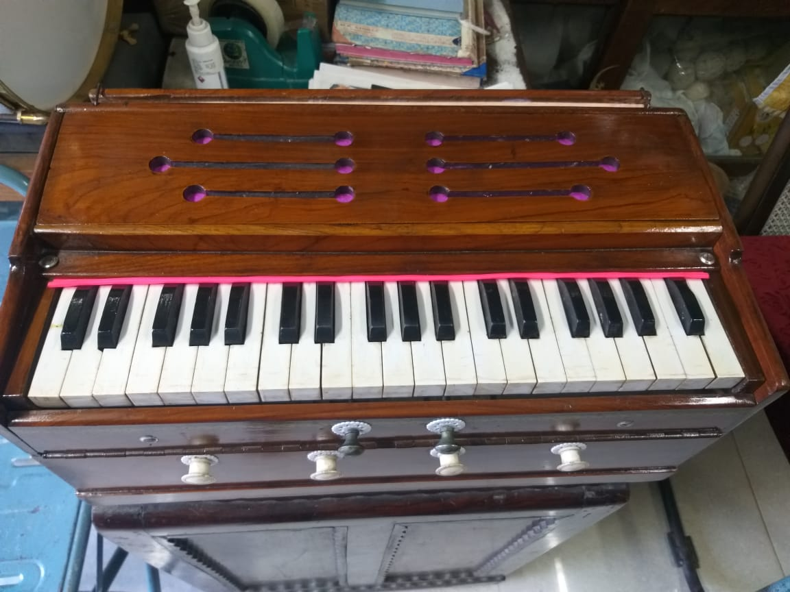 Harmonium | with Scale Changer | Tealwood 3set box (Triple reed) | Musical Instrument